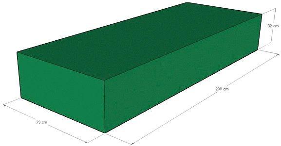 Liegenschutzhülle in grün