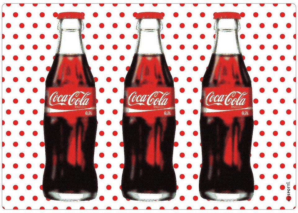 Spritzschutz »pop«, Coca Cola Dots, 59x41 cm in rot