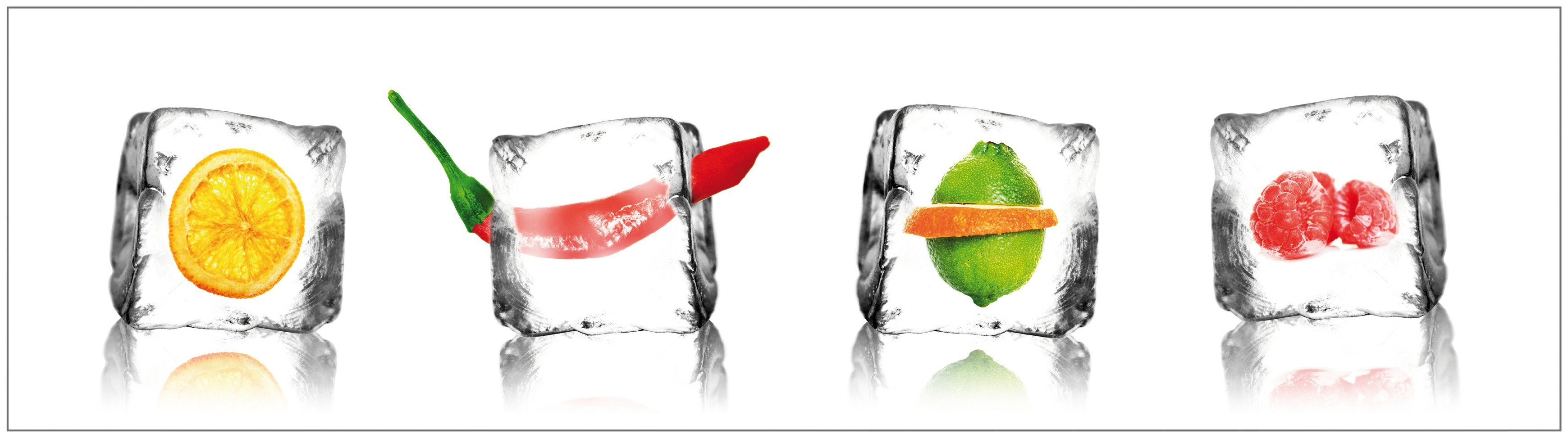 Küchenrückwand - Spritzschutz »profix«, Eisfrüchte, 220x60 cm