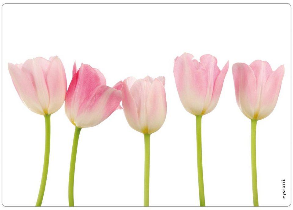 Spritzschutz »pop«, Tulpen, 59x41 cm in rosa