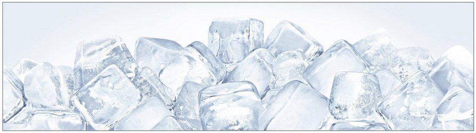 Küchenrückwand »profix«, Eiswürfel, 220x60 cm in blau