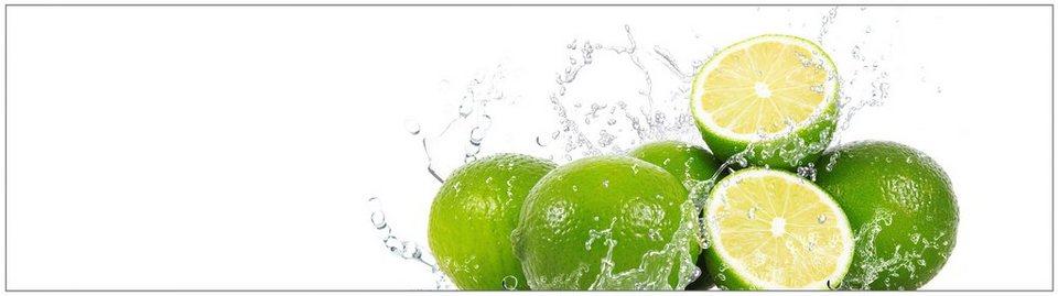 Küchenrückwand - Spritzschutz »profix«, Aqua-Limette, 220x60 cm in grün
