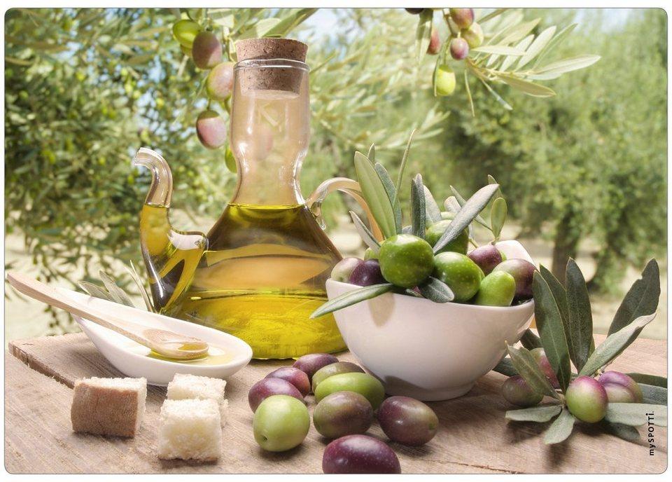 Spritzschutz »pop«, Olivenöl, 59x41 cm in grün
