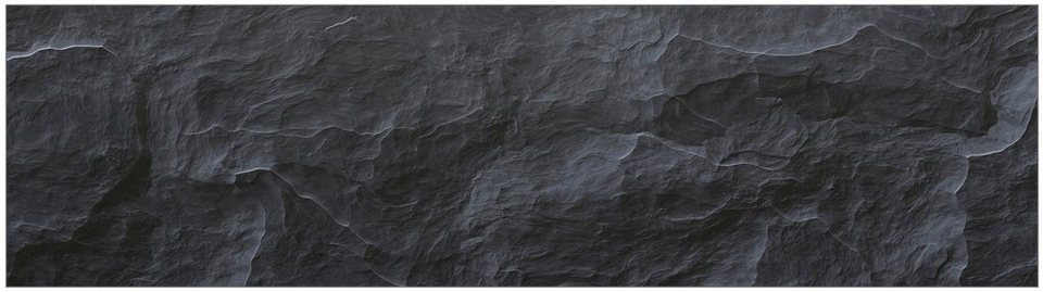 Küchenrückwand - Spritzschutz »profix«, Schiefer, 220x60 cm in schwarz