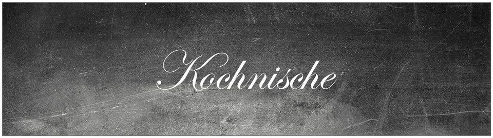 Küchenrückwand - Spritzschutz »profix«, Kochnische, 220x60 cm in schwarz