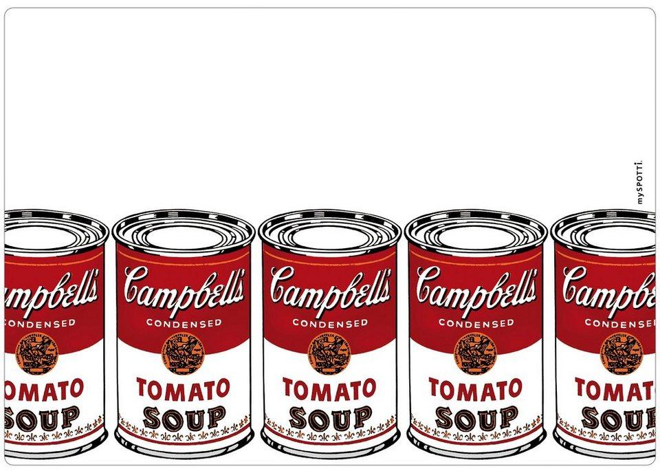 Spritzschutz »pop«, Campbell's, 59x41 cm in weiß