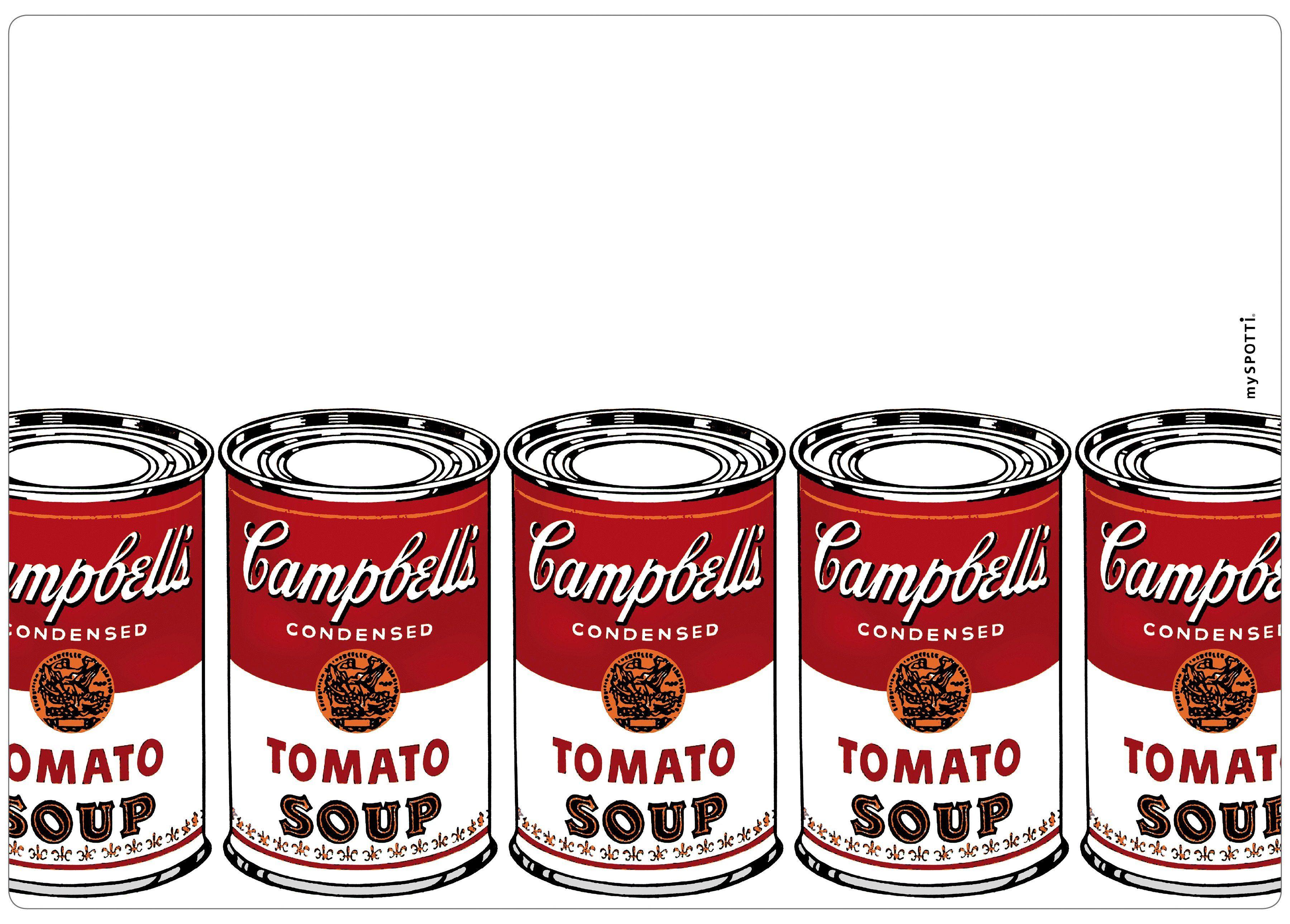 Spritzschutz »pop«, Campbell's, 59x41 cm