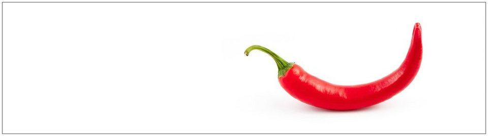 Küchenrückwand - Spritzschutz »profix«, Hot Chili, 220x60 cm in rot