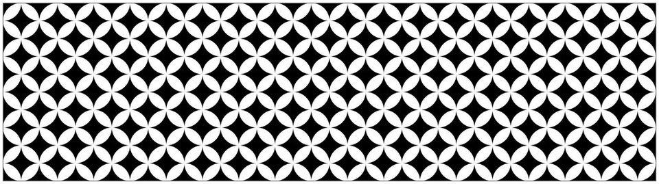 Küchenrückwand - Spritzschutz »profix«, Chadi Grafik, 220x60 cm in schwarz