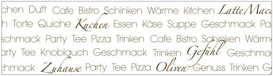Küchenrückwand - Spritzschutz »profix«, soul food, 220x60 cm in braun
