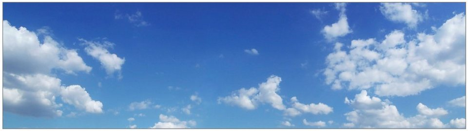 Küchenrückwand - Spritzschutz »profix«, Himmel, 220x60 cm in blau