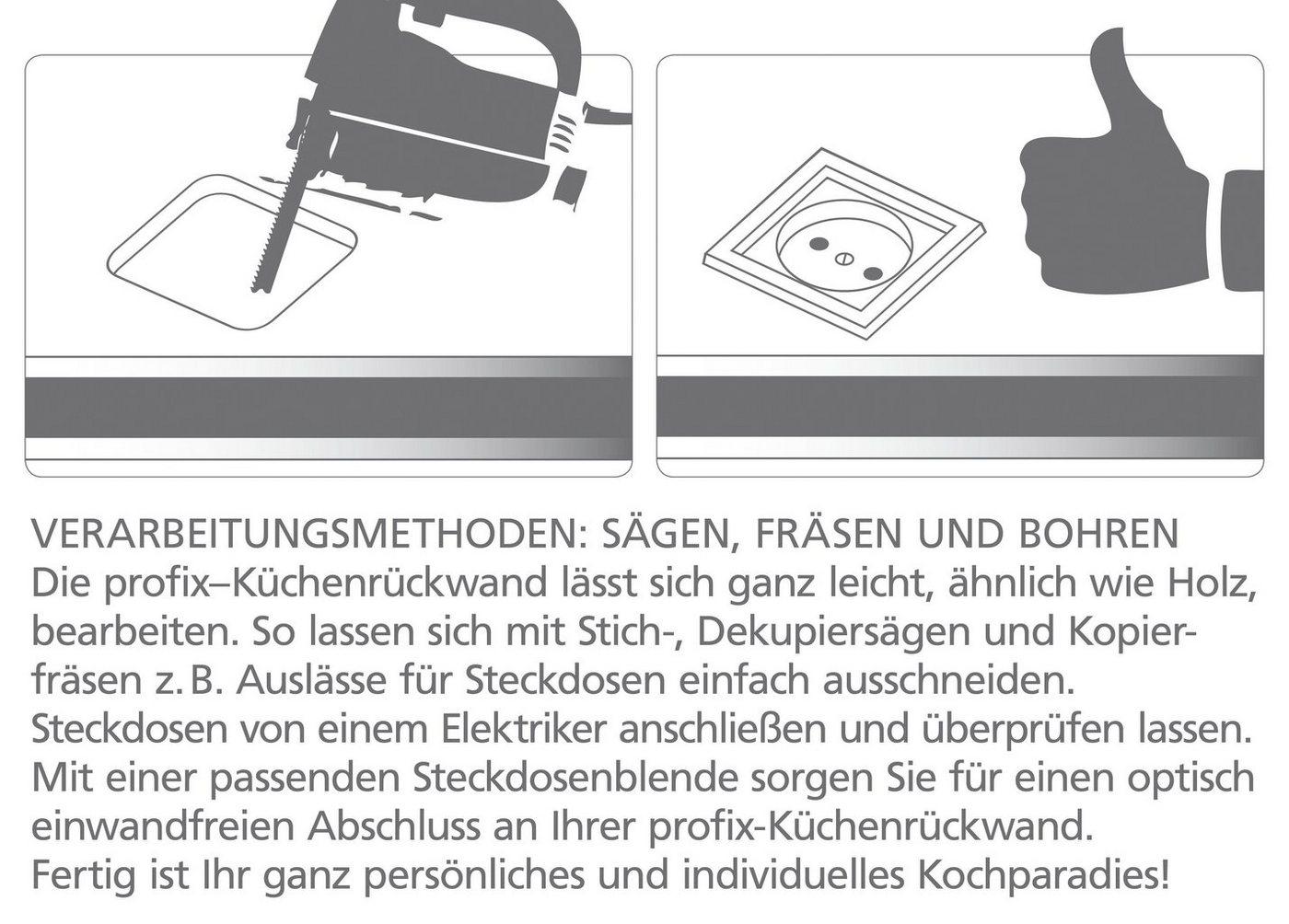 Küchenrückwand - Spritzschutz »profix«, Ludwig, 220x60 cm