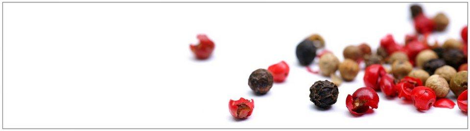 Küchenrückwand - Spritzschutz »profix«, Pfeffer, 220x60 cm in rot