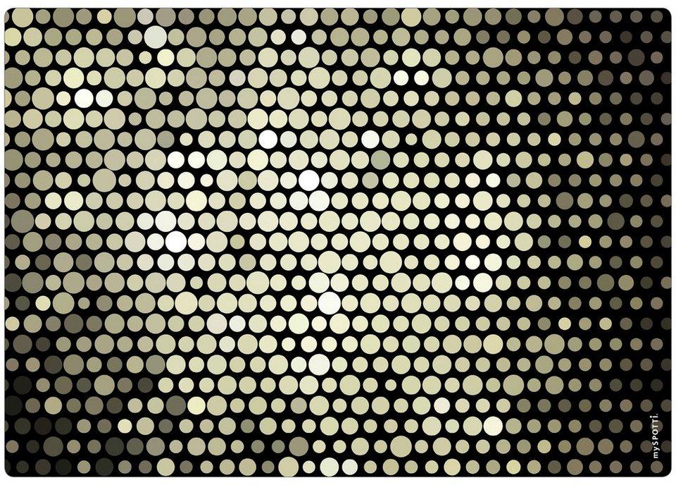 Spritzschutz »pop«, Magnificent, 59x41 cm in schwarz