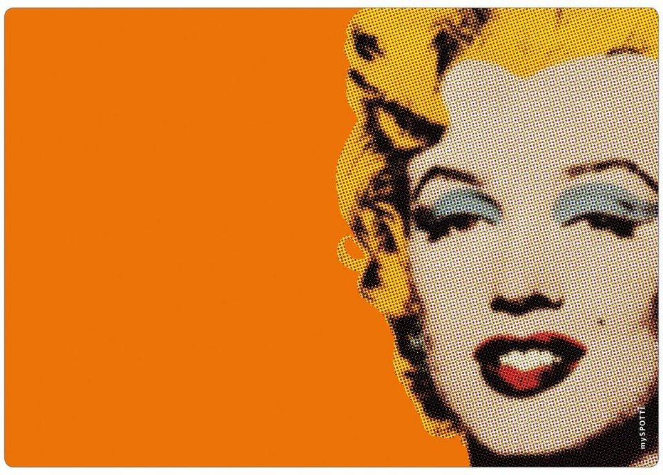 Küchenrückwand »memo«, Marilyn Monroe, 59x41 cm in orange