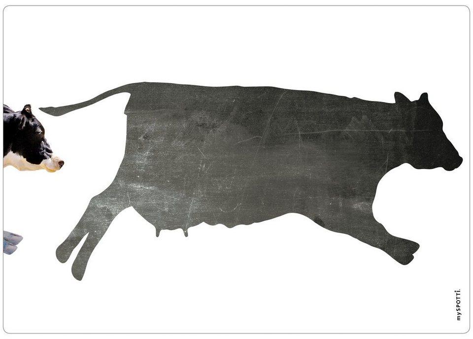 Küchenrückwand »memo«, Memocow, 59x41 cm in schwarz