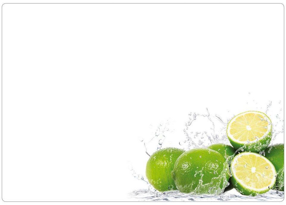 Küchenrückwand »memo«, Lime, 59x41 cm in grün
