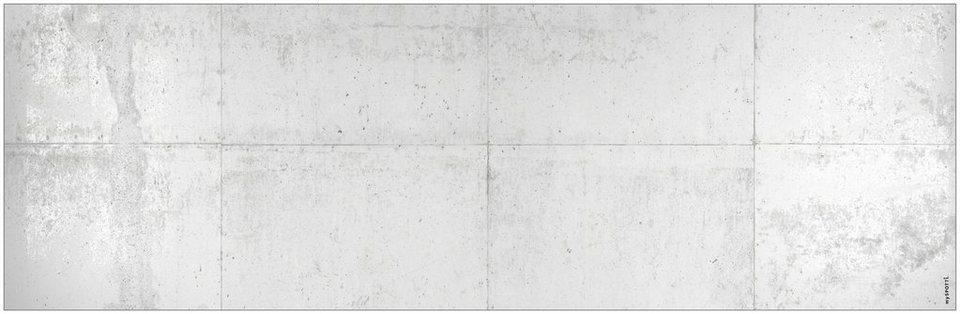 Badrückwand »aqua«, Betonwand, in 3 Breiten in grau
