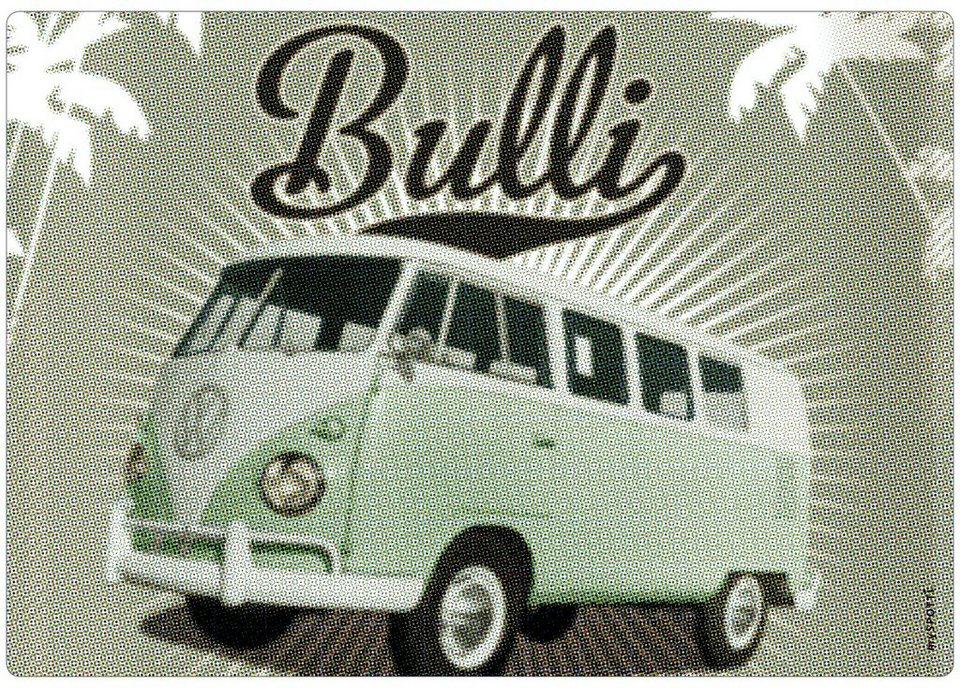 Spritzschutz »pop«, Bulli mint, 59x41 cm in grün