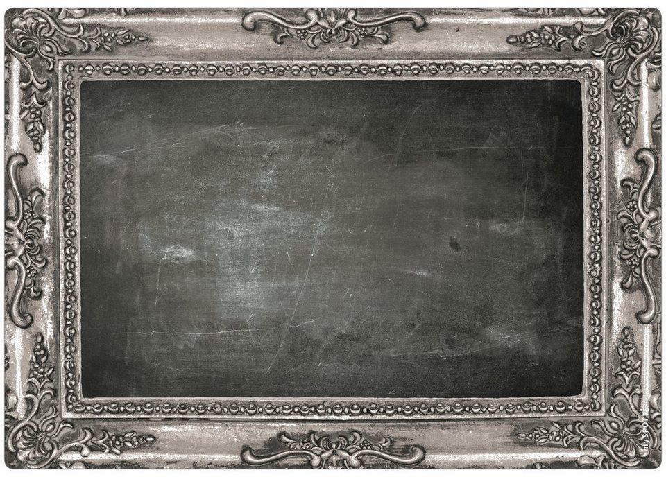 Küchenrückwand »memo«, Frame silver, 59x41 cm in schwarz