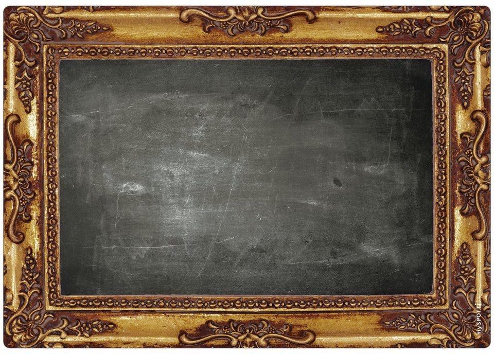 Küchenrückwand »memo«, Frame, 59x41 cm in schwarz