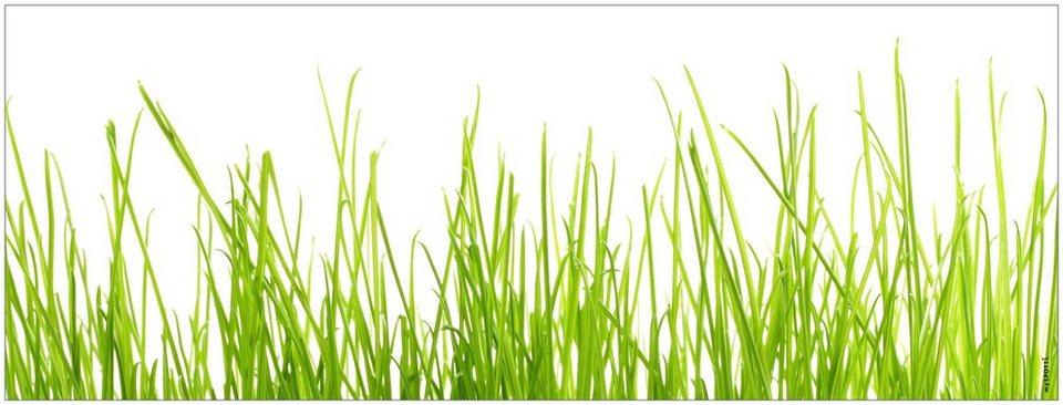 Badrückwand »aqua«, Gras, in 3 Breiten in grün