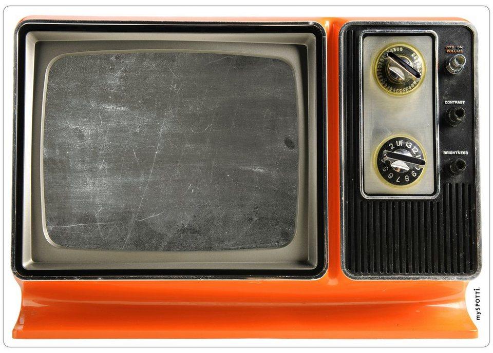 Küchenrückwand »memo«, TV, 59x41 cm in schwarz