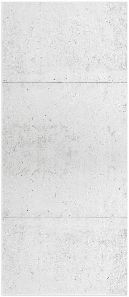Badrückwand »shower«, Betonwand, in 2 Breiten in grau