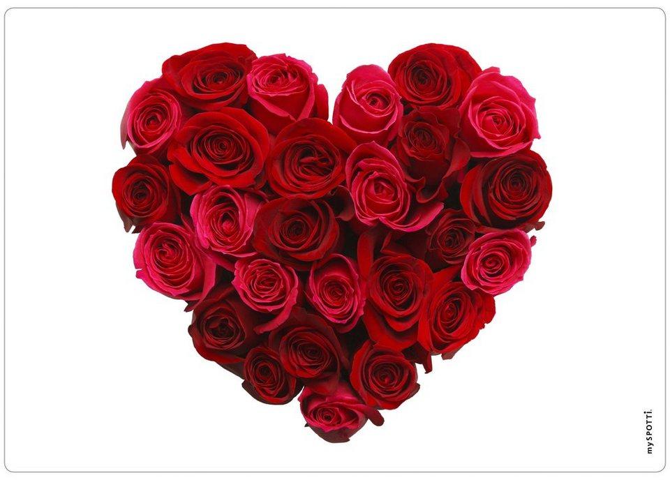 Spritzschutz »pop«, Valentine, 59x41 cm in rot