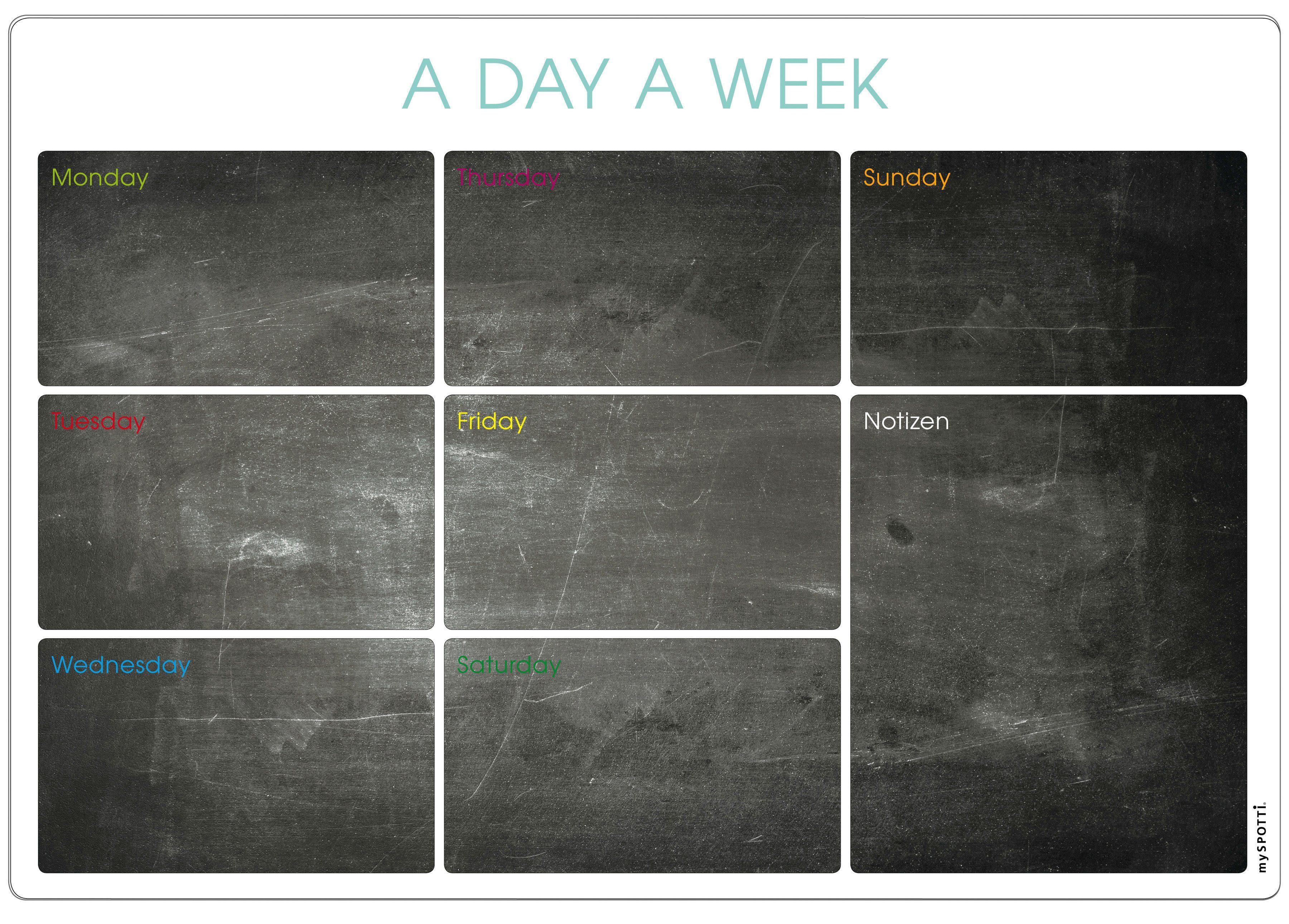 Küchenrückwand »memo to go«, A day a week, 70,5x49 cm