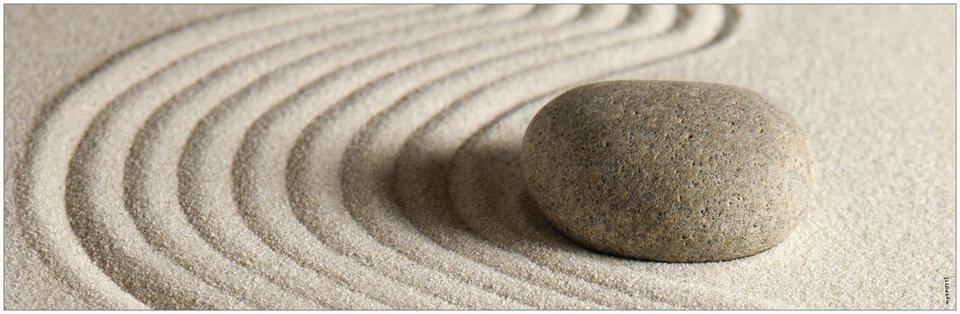 Badrückwand »aqua«, Zen, in 3 Breiten in natur
