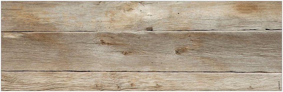 Badrückwand »aqua«, Holz, in 3 Breiten in braun