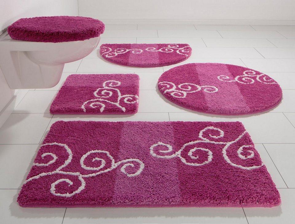 Badematte, my home, »Victoria«, Höhe 20 mm, rutschhemmender Rücken in pink