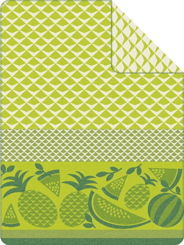 Wohndecke, Ibena, »Fruiti«, mit Früchtemotiven in grün