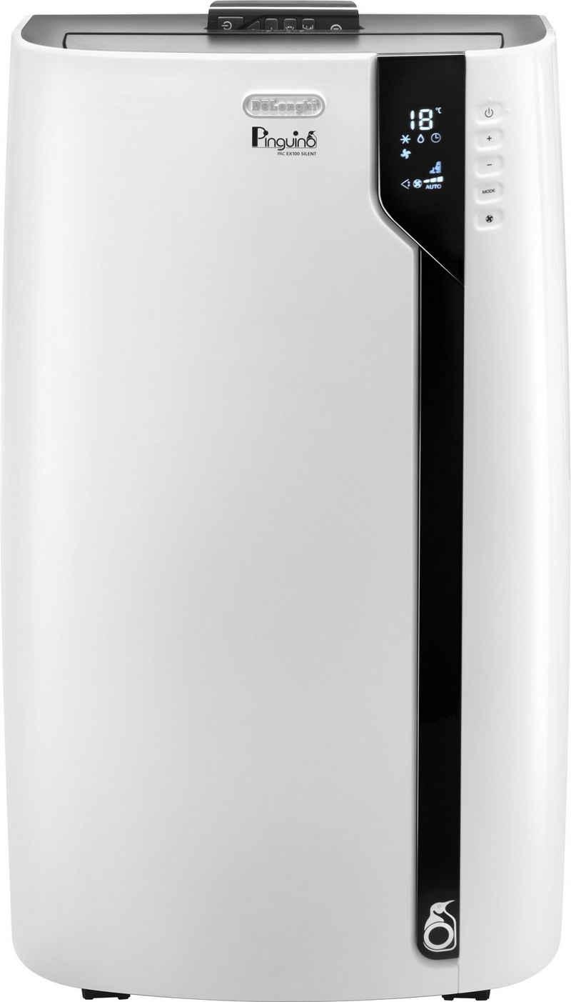 De'Longhi Klimagerät PAC EX100 Silent, Mobiles Klimagerät mit Entfeuchtungs-Funktion