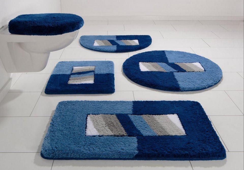 Badematte, my home, »Jambo«, Höhe 20 mm, rutschhemmender Rücken in blau