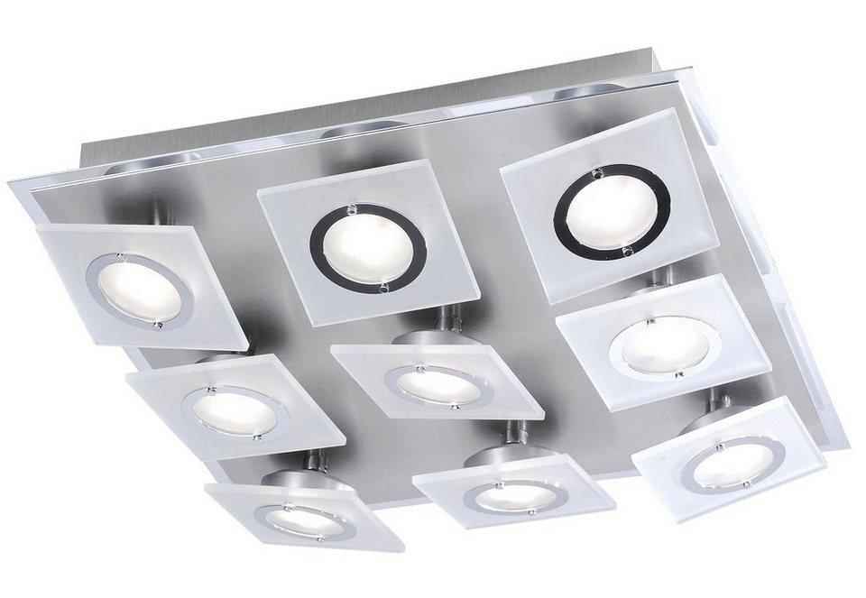 Paul Neuhaus LED-Deckenleuchte, 9flg., »ROTATOR« in Metall, Aluminium