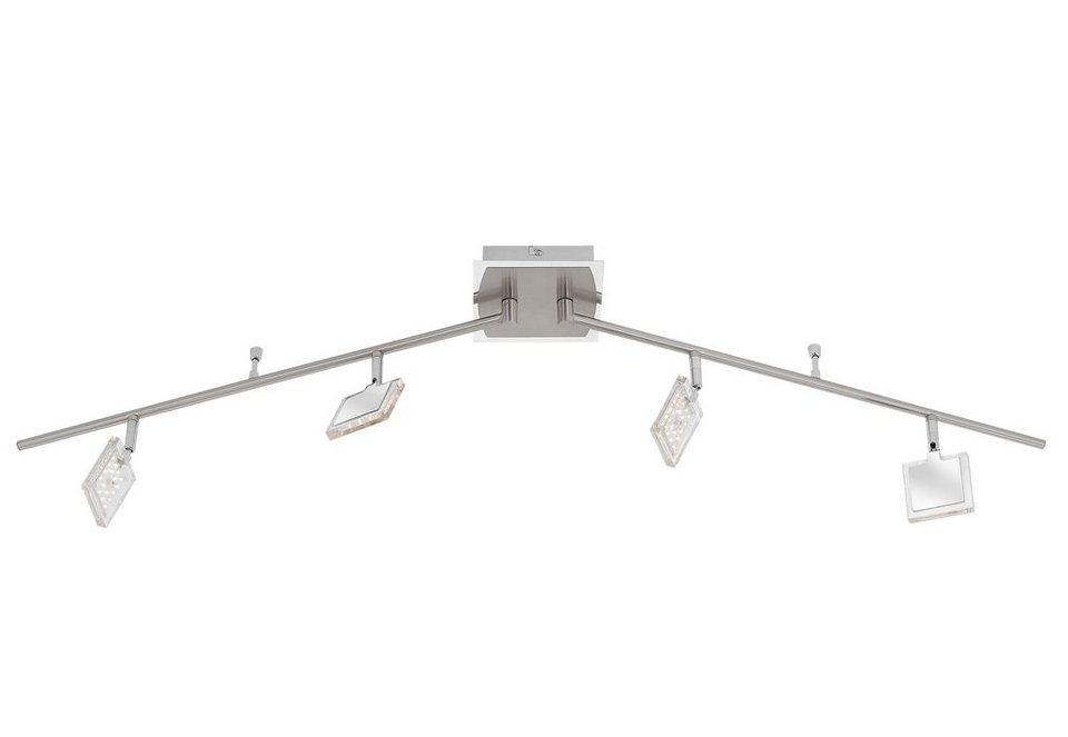 Paul Neuhaus LED-Deckenleuchte, 4flg., »DAAN« in Metall, chrom-nickelfarben