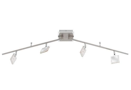 Paul Neuhaus Deckenleuchte »DAAN«, Deckenstrahler in Nickel-Chrom, inklusive festverbauten LED Leuchtmitteln, warmweiße Lichtfarbe, verstellbare Spots und Leuchtenarme