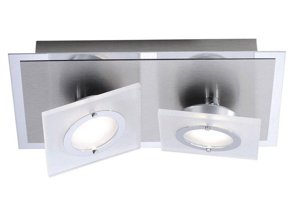 Paul Neuhaus LED-Deckenleuchte, 2flg., »ROTATOR« in Metall, Aluminium