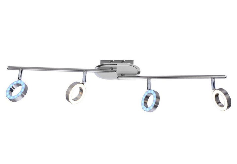 Paul Neuhaus LED-Deckenleuchte, 4flg., »LUXRING« in Metall mit Acrylscheiben