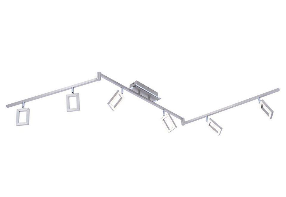 Paul Neuhaus LED-Deckenleuchte, 6flg., »INIGO« in Metall, stahlfarben