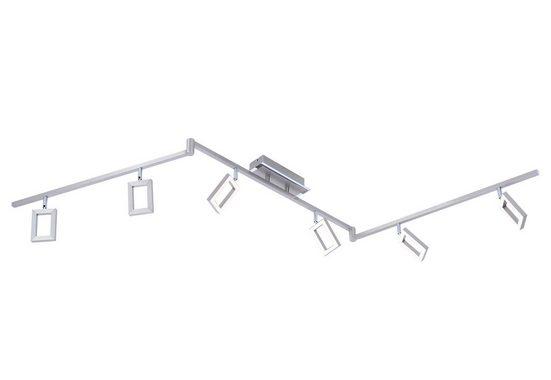 Paul Neuhaus Deckenleuchte »INIGO«, LED-Deckenleuchte mit festverbauten Leuchtmitteln, warmweiße Lichtfarbe, mit schwenkbaren Spotköpfen und Armen