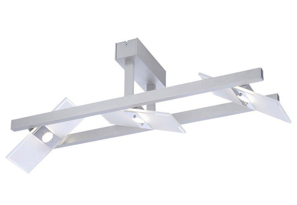 Paul Neuhaus LED-Deckenleuchte, 3flg., »PUKKA« in Metall, Aluminium