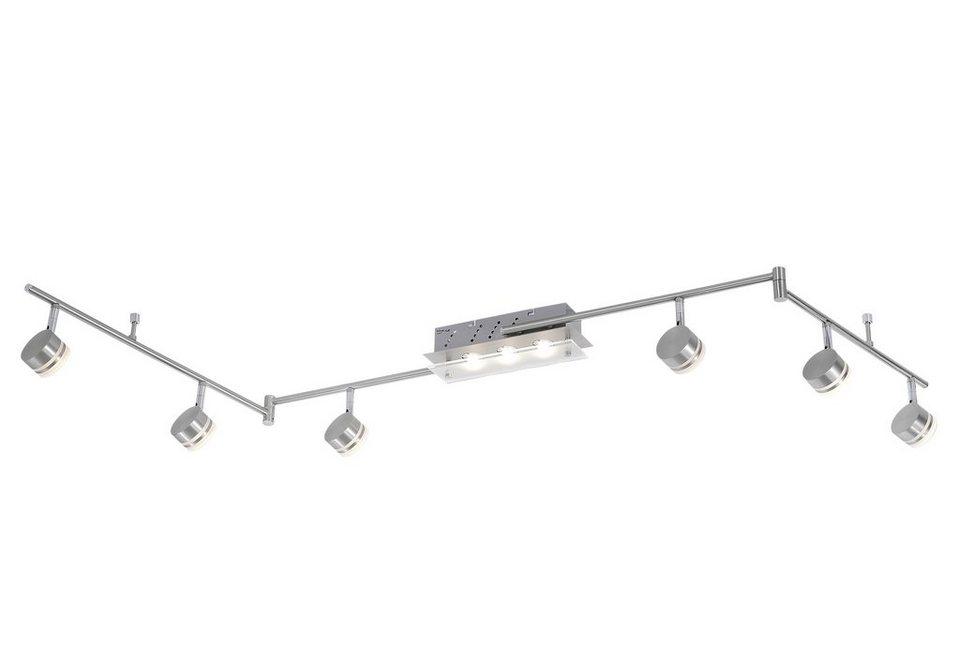 Paul Neuhaus LED-Deckenleuchte, 9flg., »TRILOK« in Metall, stahlfarben