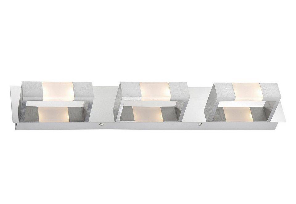 Paul Neuhaus LED-Wand- Deckenleuchte, 6flg., »KEMOS« in Aluminium gebürstet