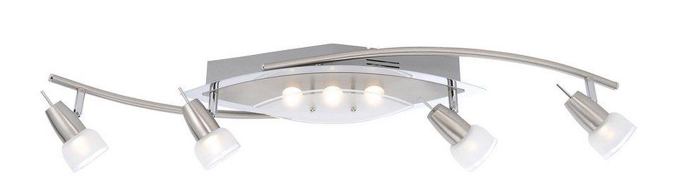 Paul Neuhaus LED-Deckenleuchte, 7flg., »MERAL« in Metall, Glas teilsatiniert