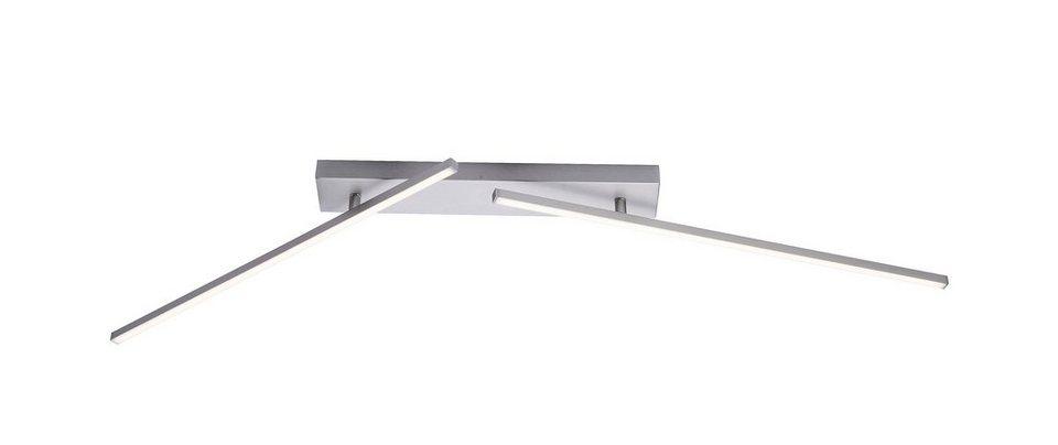 Paul Neuhaus LED-Deckenleuchte, 2flg., »INIGO« in Metall, stahlfarben