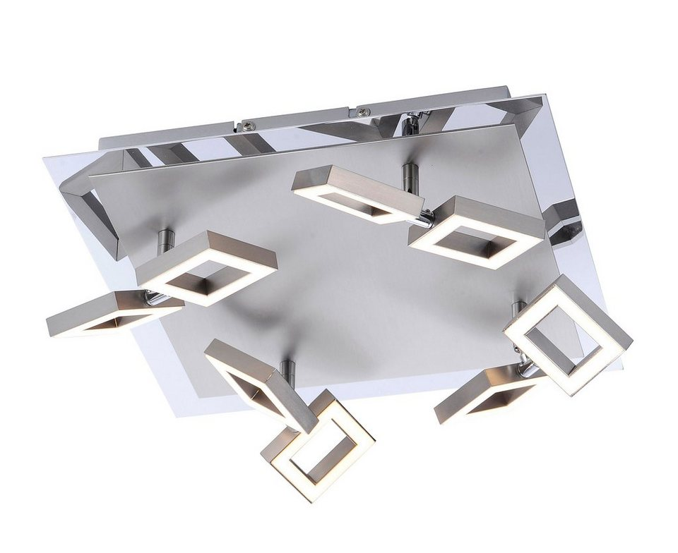 Paul Neuhaus LED-Deckenleuchte, 8flg., »TWINS« in Metall