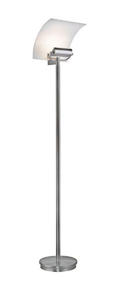 Paul Neuhaus Stehleuchte, 1flg., »TIARA« in Metall, Glas satiniert